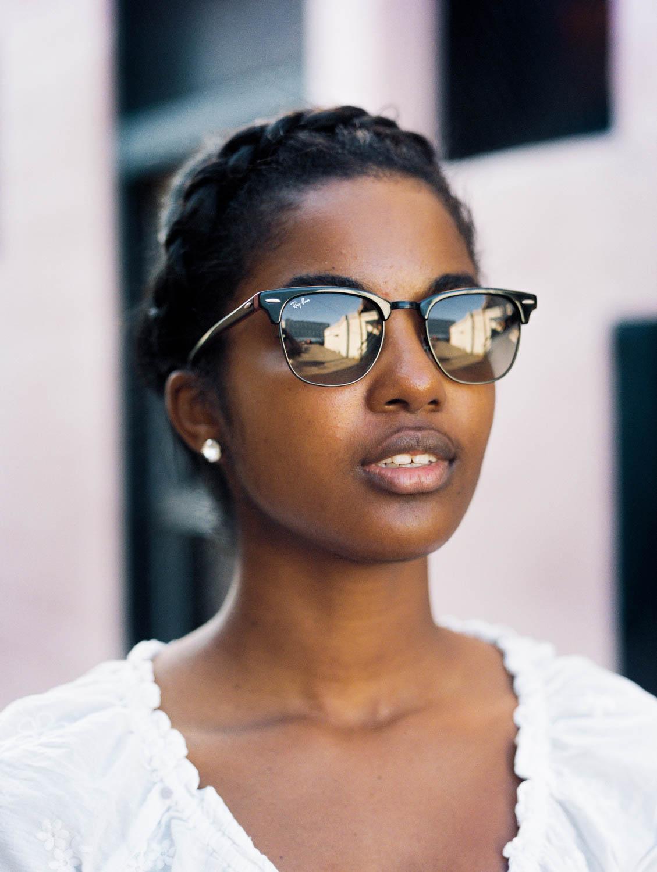 Headshot of Jonelle Douglas in Binghamton, New York - Photographed by Tyler Constance with a Bronica ETRSi on Kodak Portra 400
