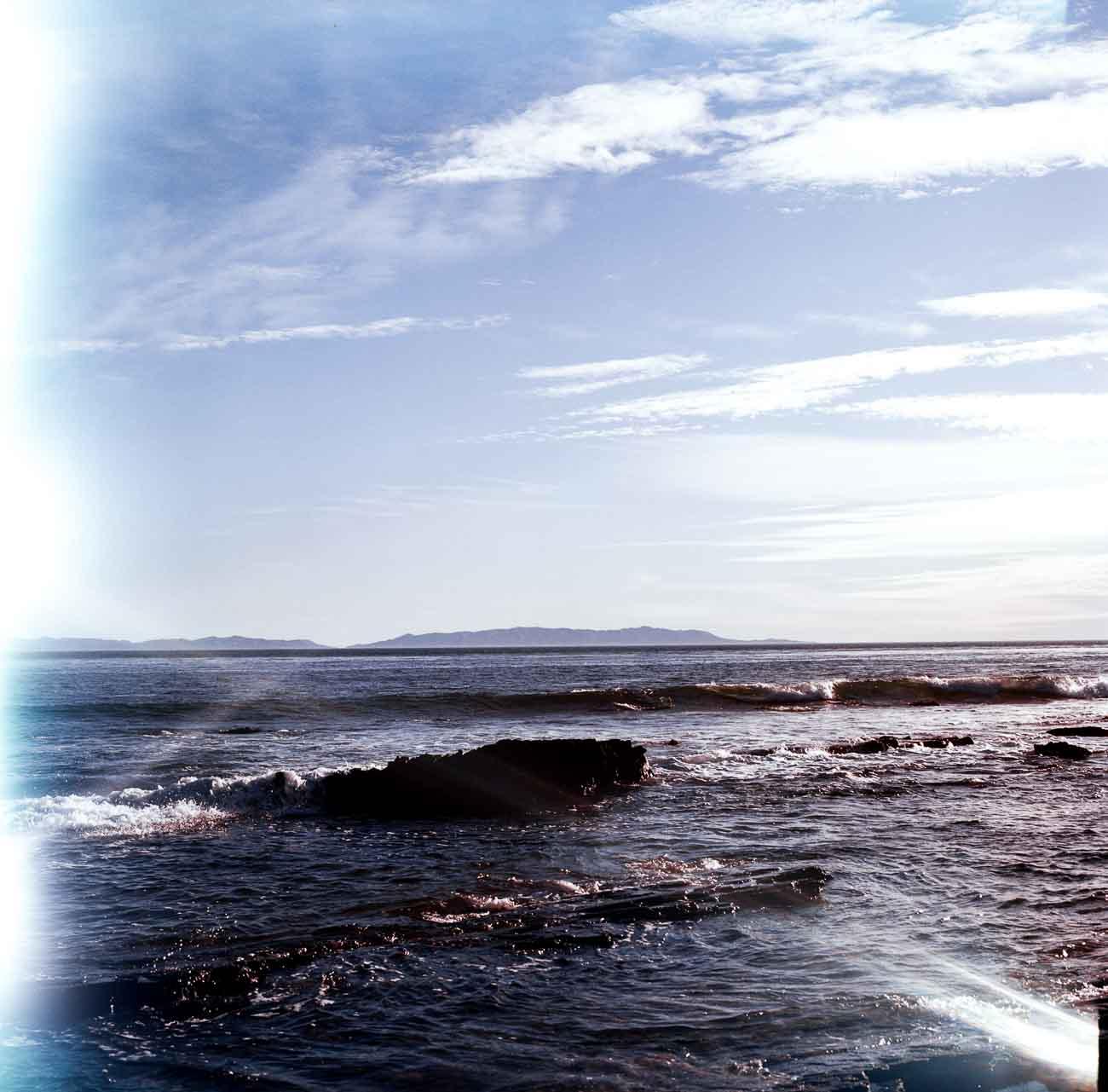 The rocky coast of San Pedro, CA