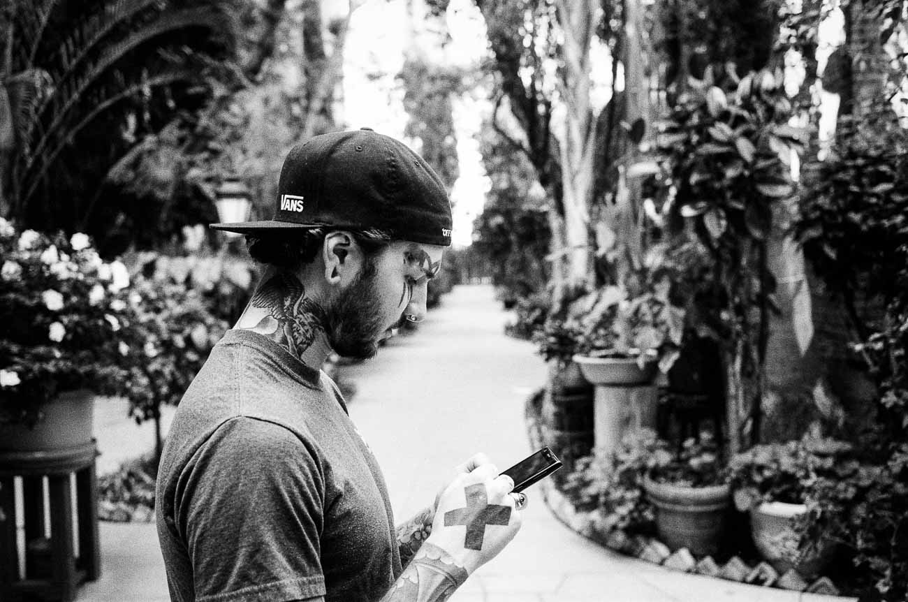 Joey Marsh at Villa Elaine in Los Angeles, photographed with a Leica M2